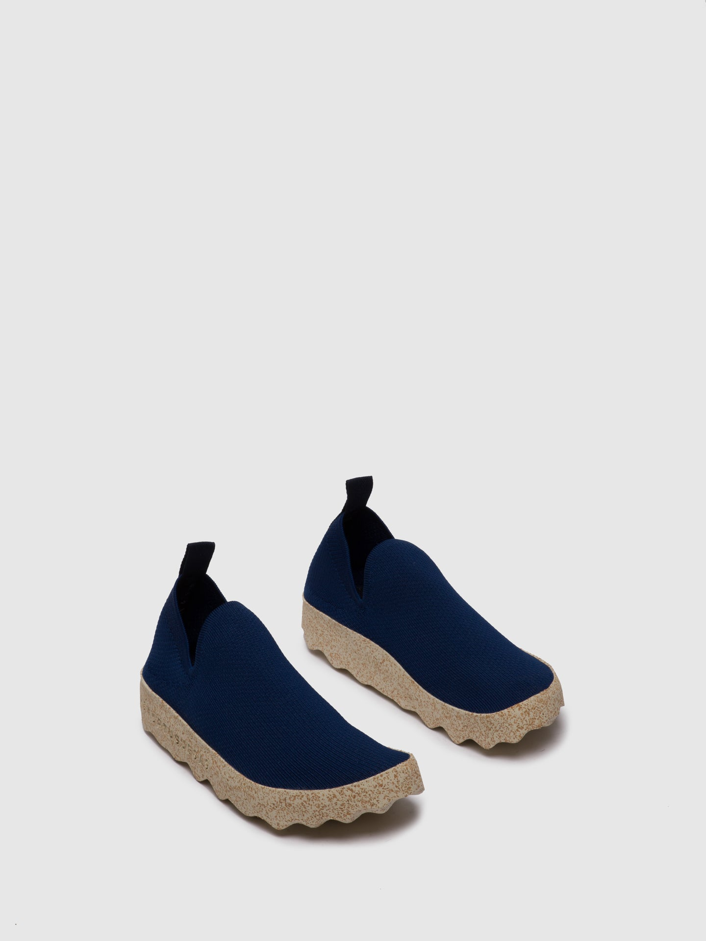 ASPORTUGUESAS Navy Elasticated Trainers