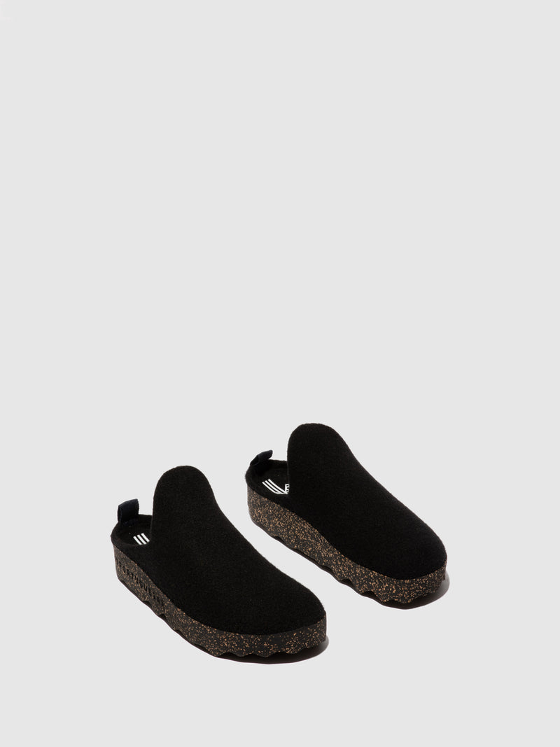 Round Toe Mules COME L Black