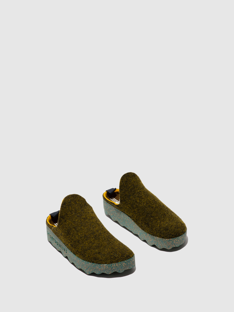 Round Toe Mules COME L Forest