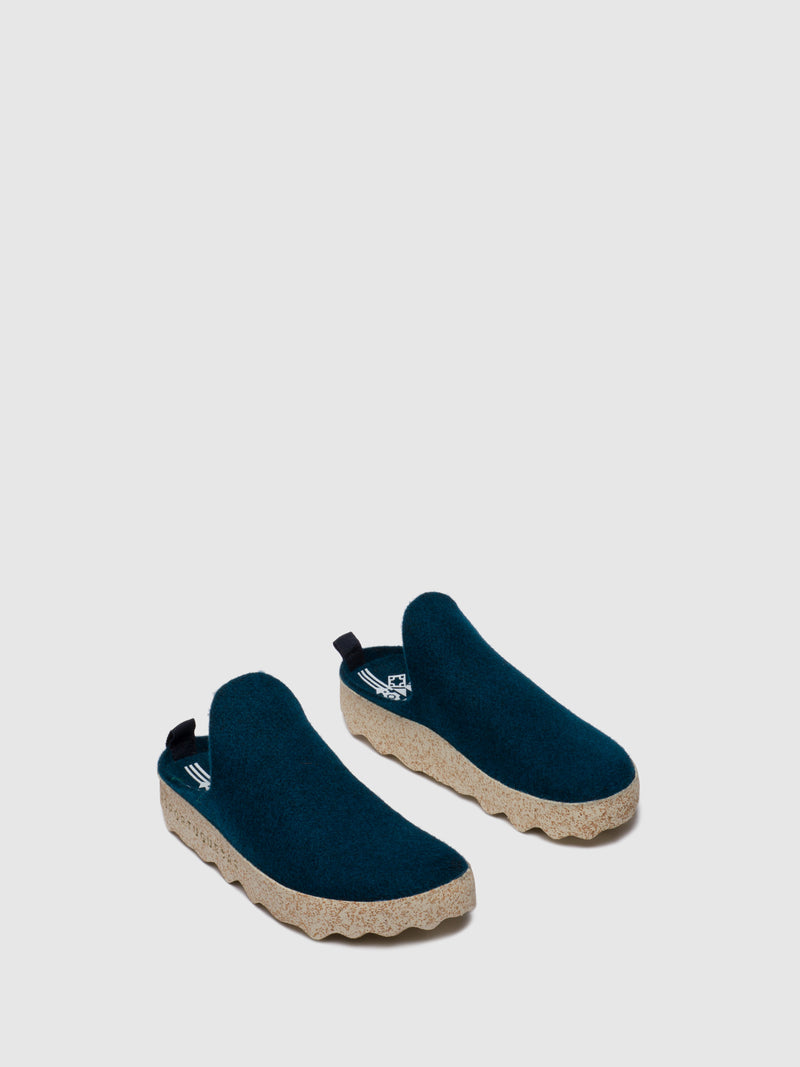 ASPORTUGUESAS Round Toe Mules COME L Dark Blue