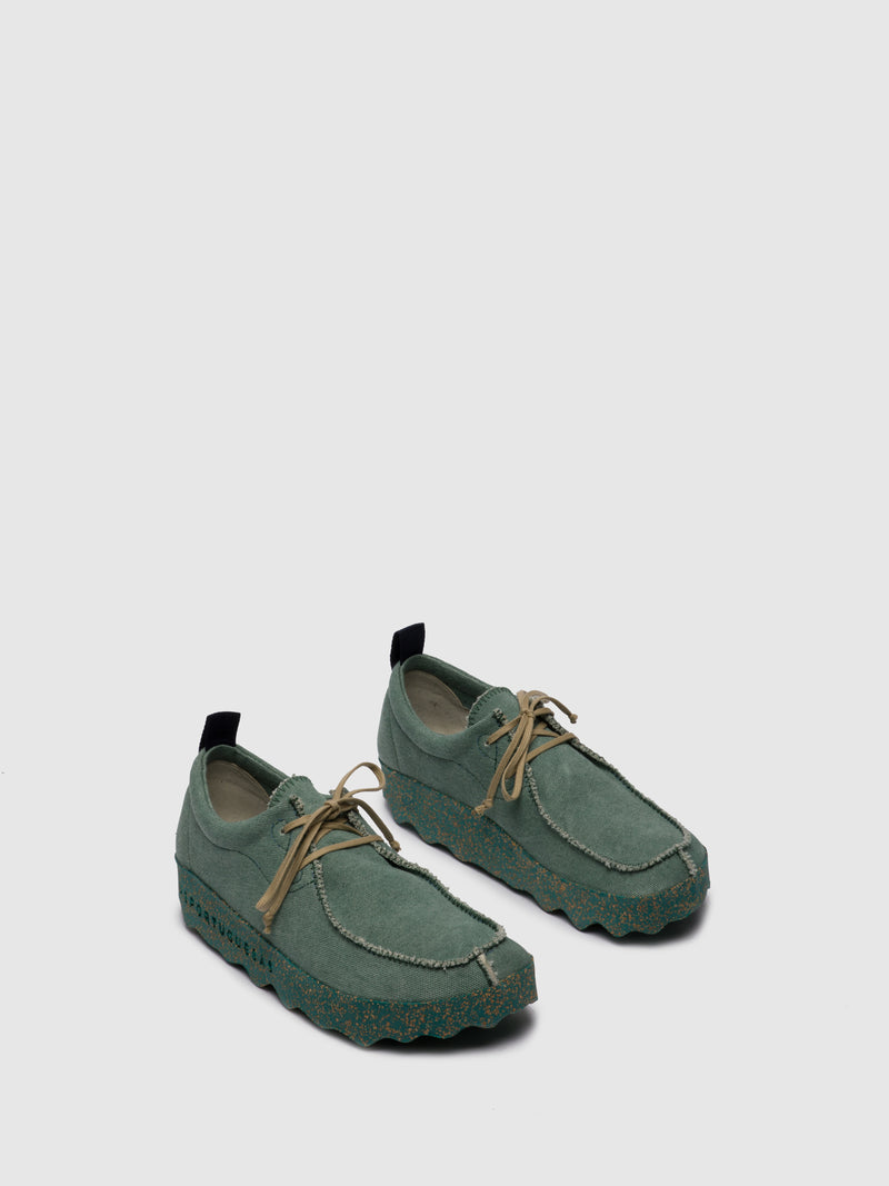ASPORTUGUESAS Green Elasticated Trainers