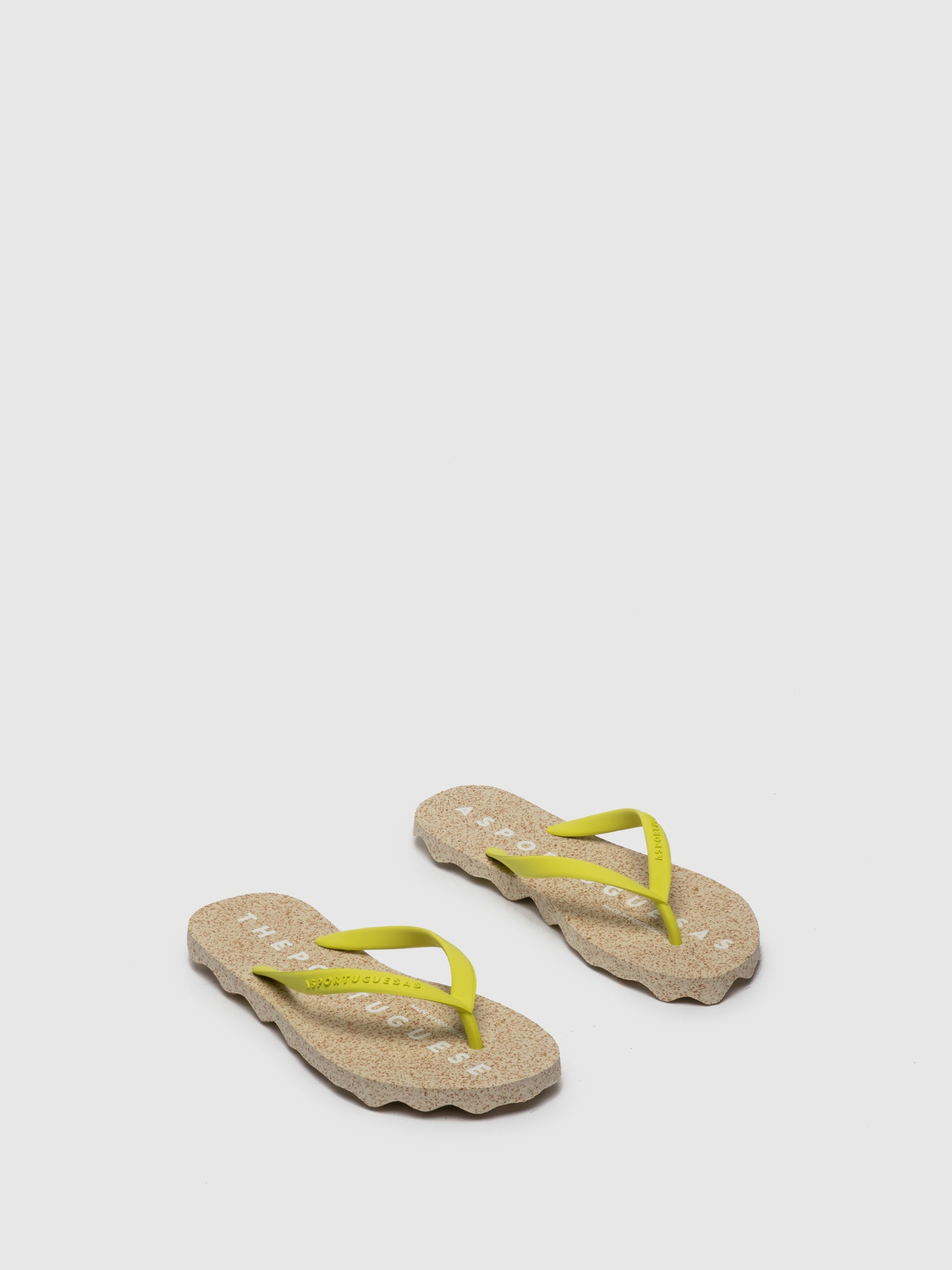ASPORTUGUESAS Beach Flip-Flops BASE_M Yellow Rubber Strap