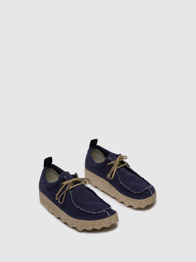 ASPORTUGUESAS Navy Lace-up Shoes