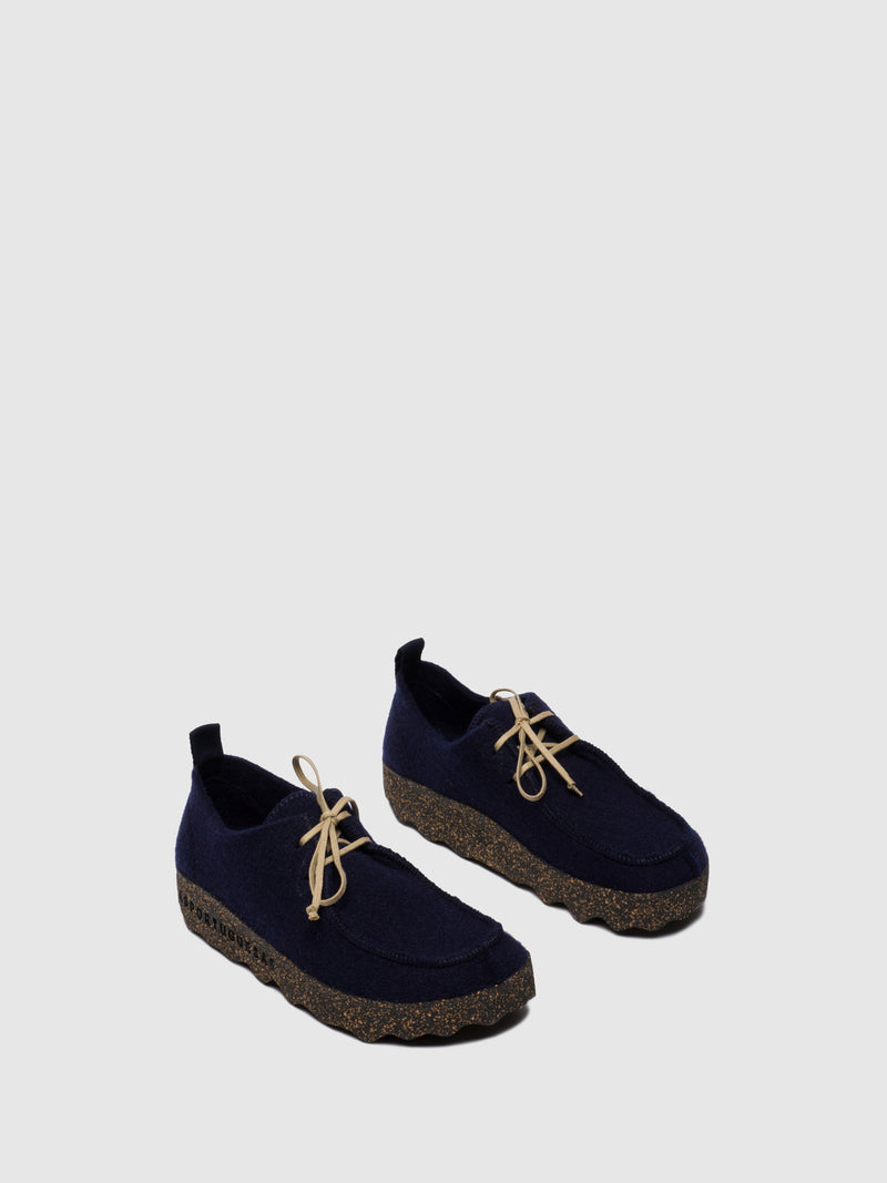 ASPORTUGUESAS Round Toe Shoes CHAT M Navy