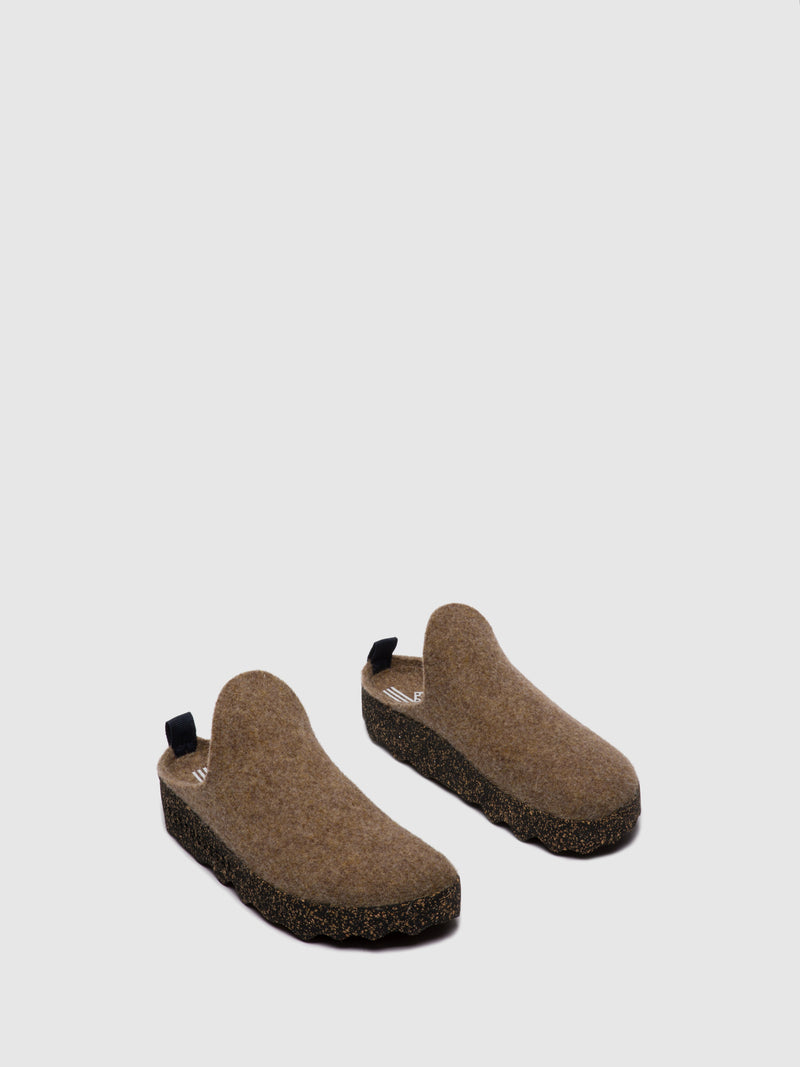 Round Toe Mules COME M Taupe