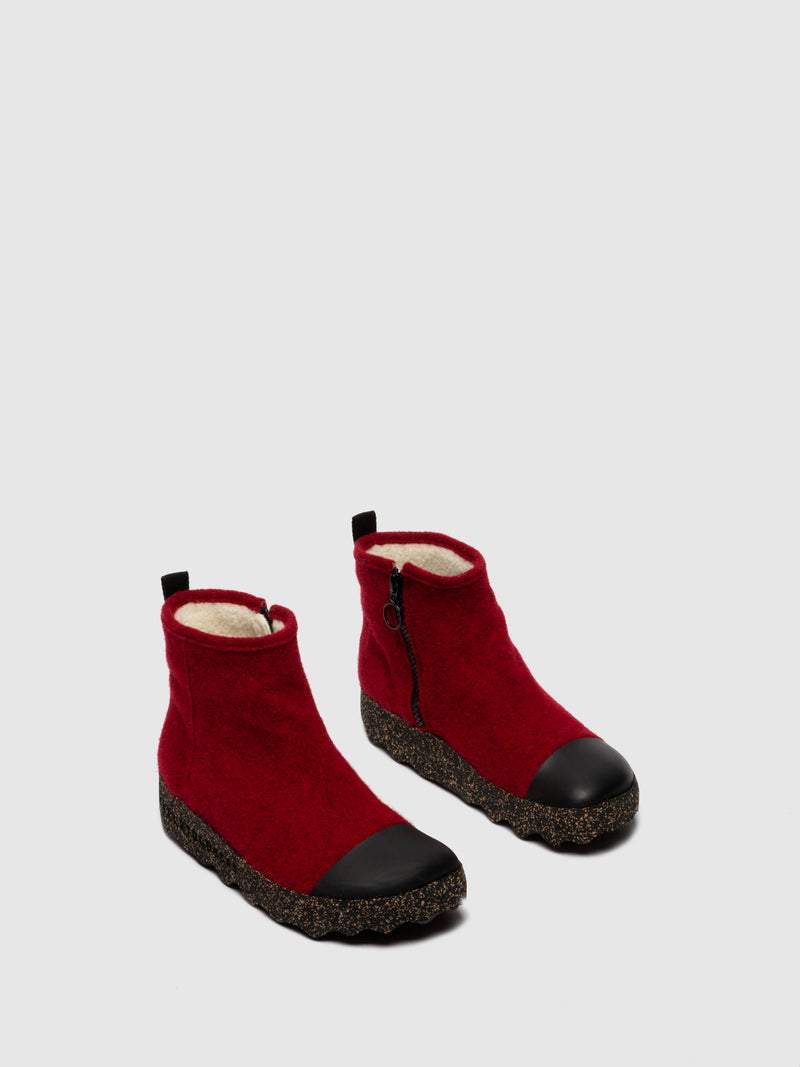 Zip Up Boots COSY L Berry
