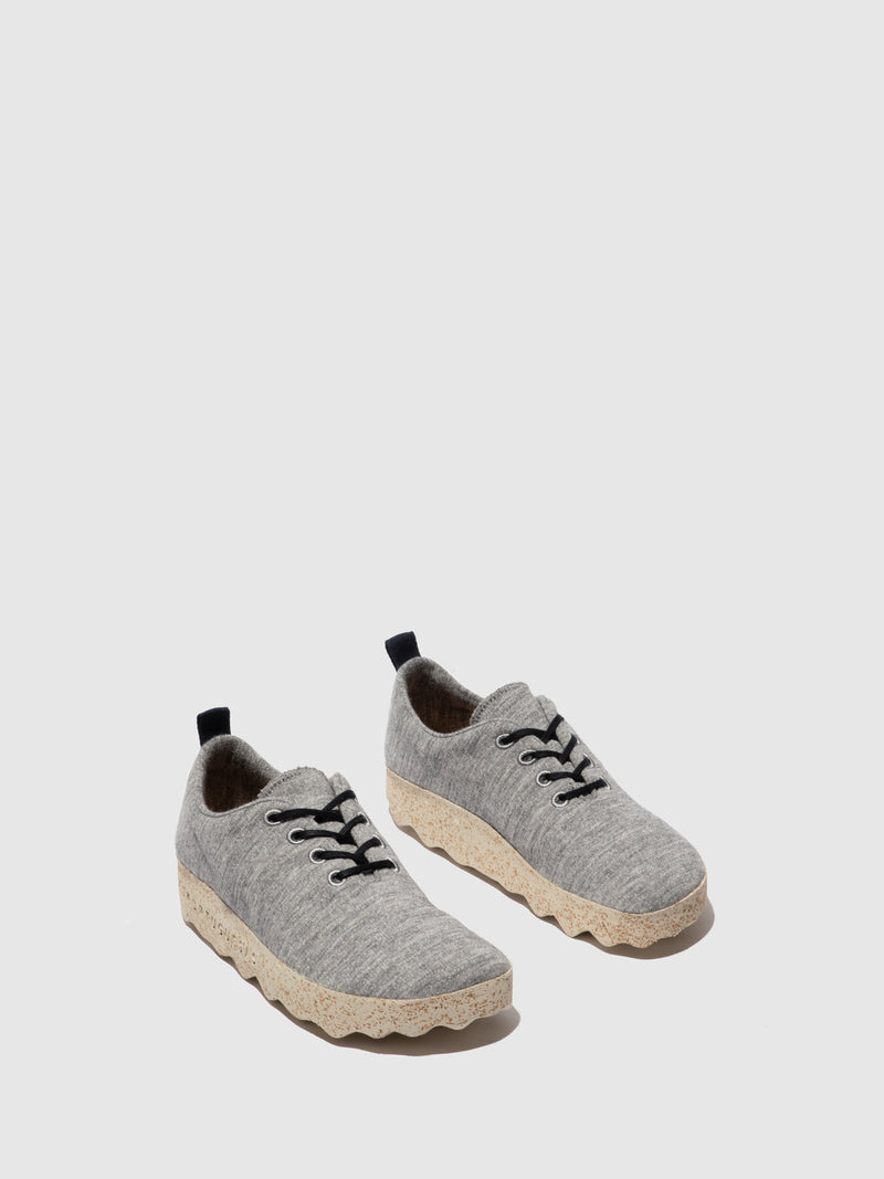 ASPORTUGUESAS Lace-up Trainers CAMP L Grey Merino Wool