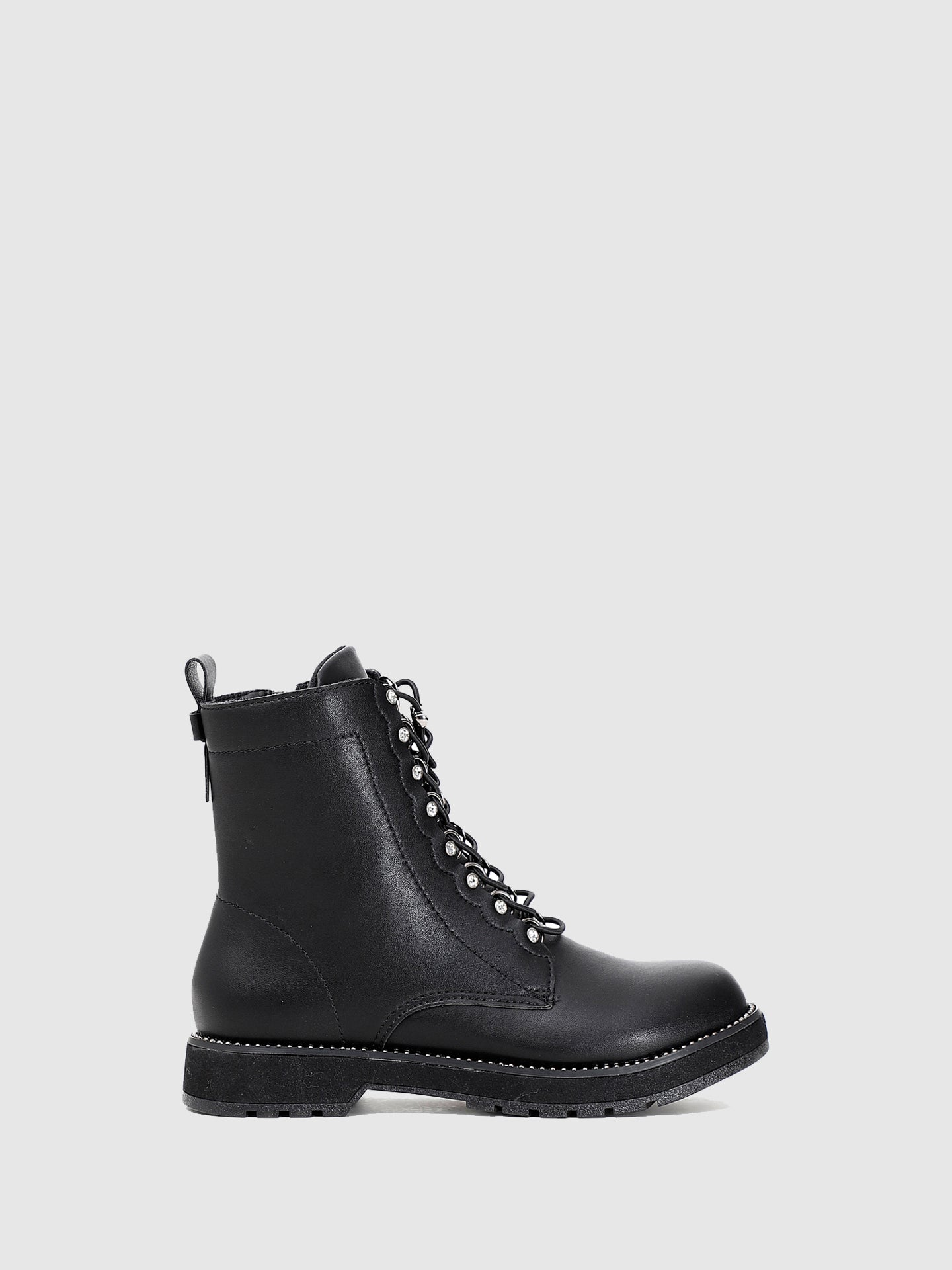 Cafè Noir Black Lace-up Boots