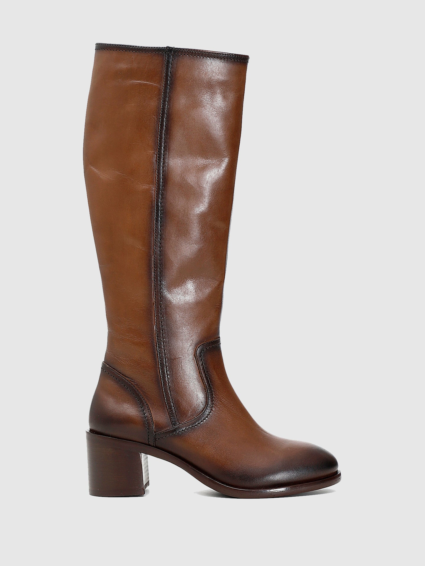 Cafè Noir Brown Zip Up Boots