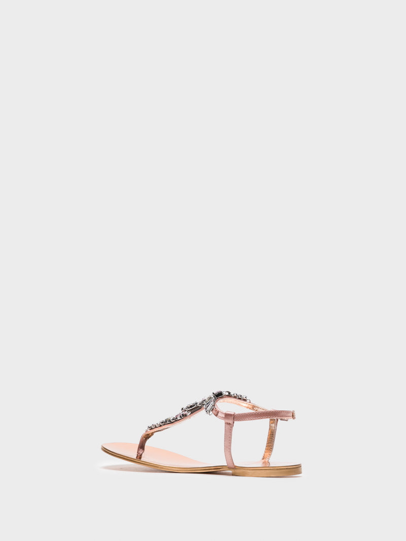 Cafè Noir Pink Buckle Sandals