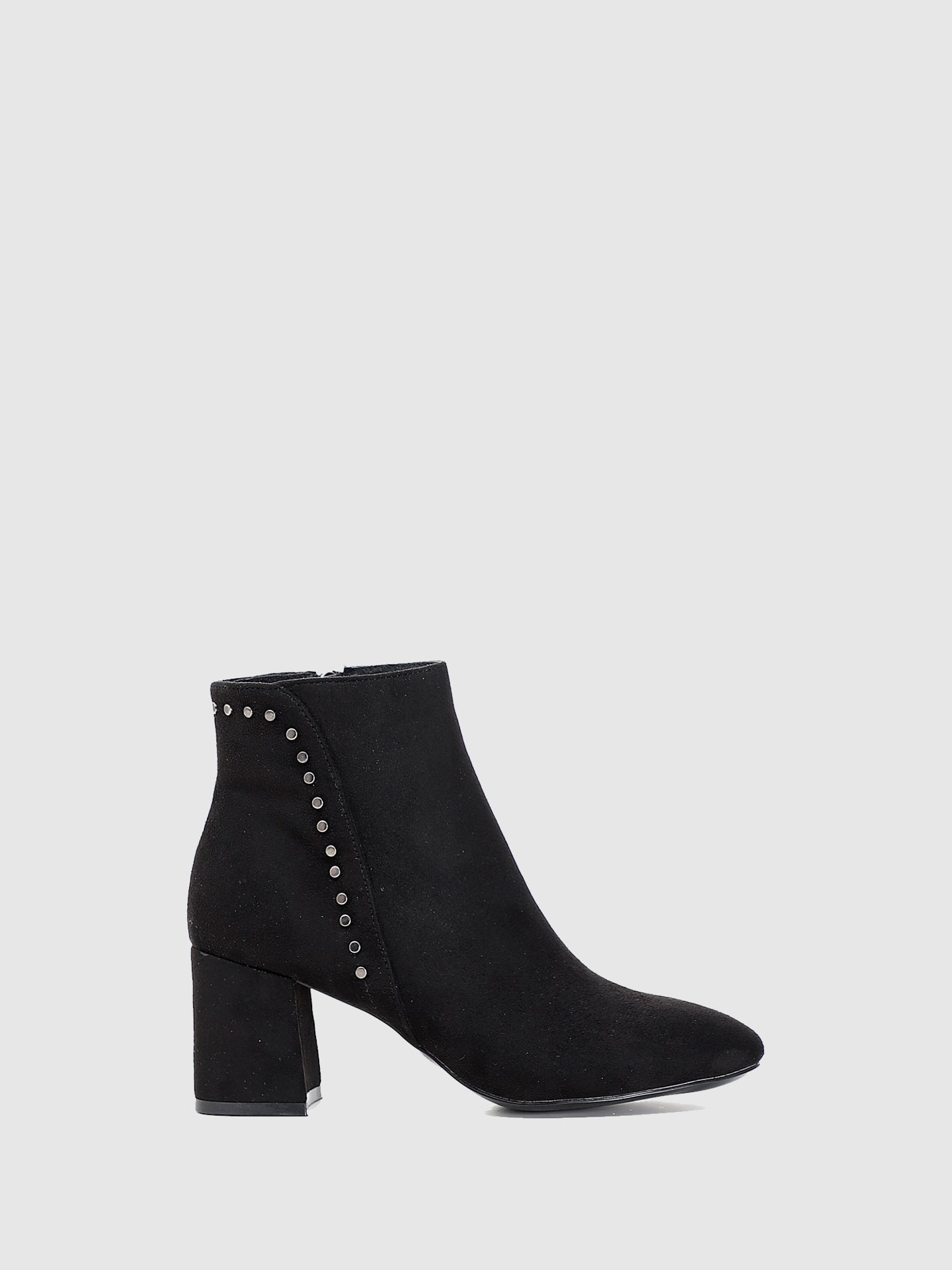 Cafè Noir Black Pointed Toe Ankle Boots