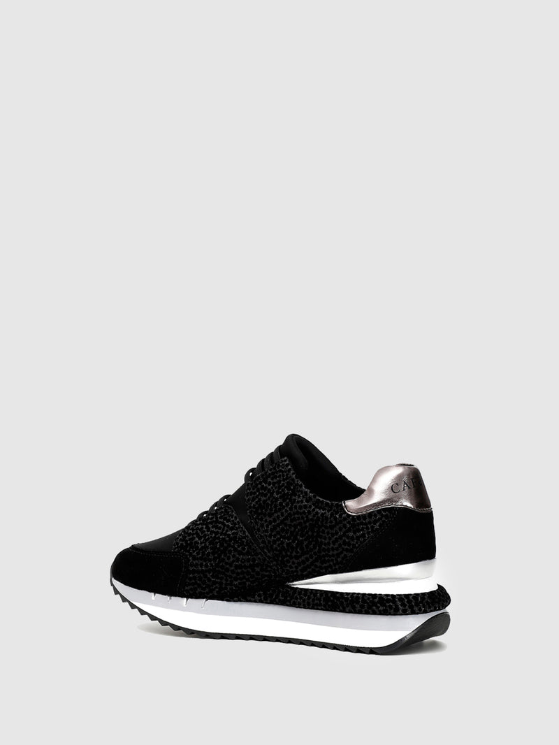 Cafè Noir Black Lace-up Trainers