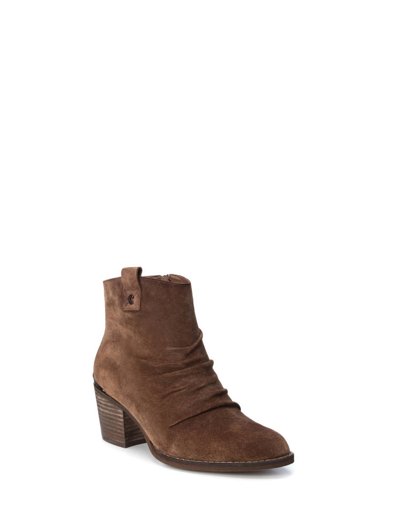 Carmela Camel Pointed Toe Ankle Boots