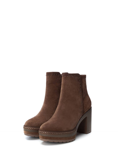 Carmela Wheat Zip Up Ankle Boots