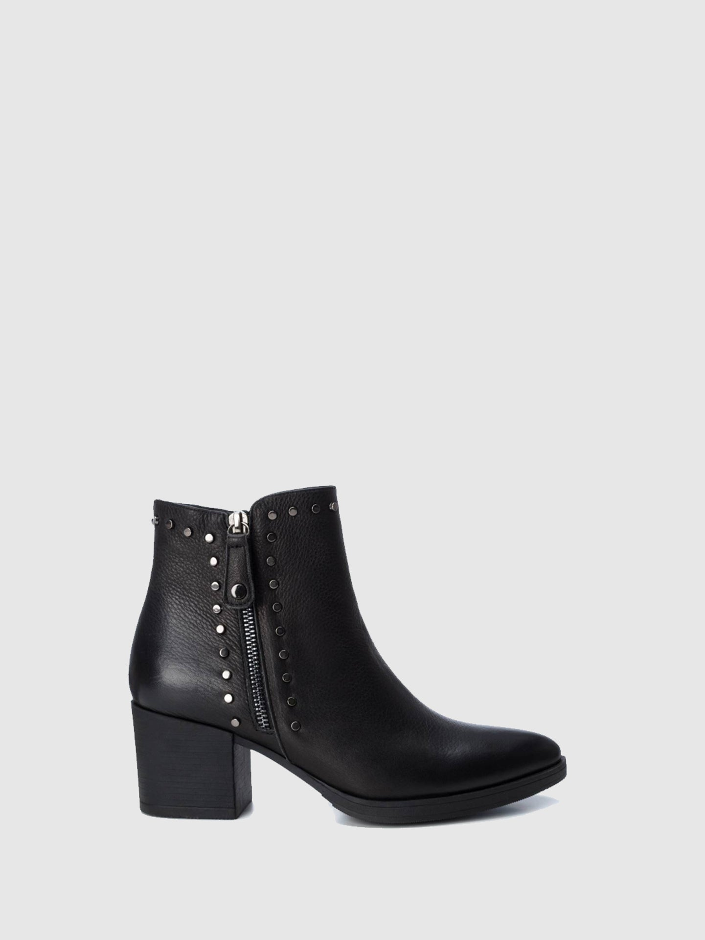 Carmela Black Pointed Toe Ankle Boots