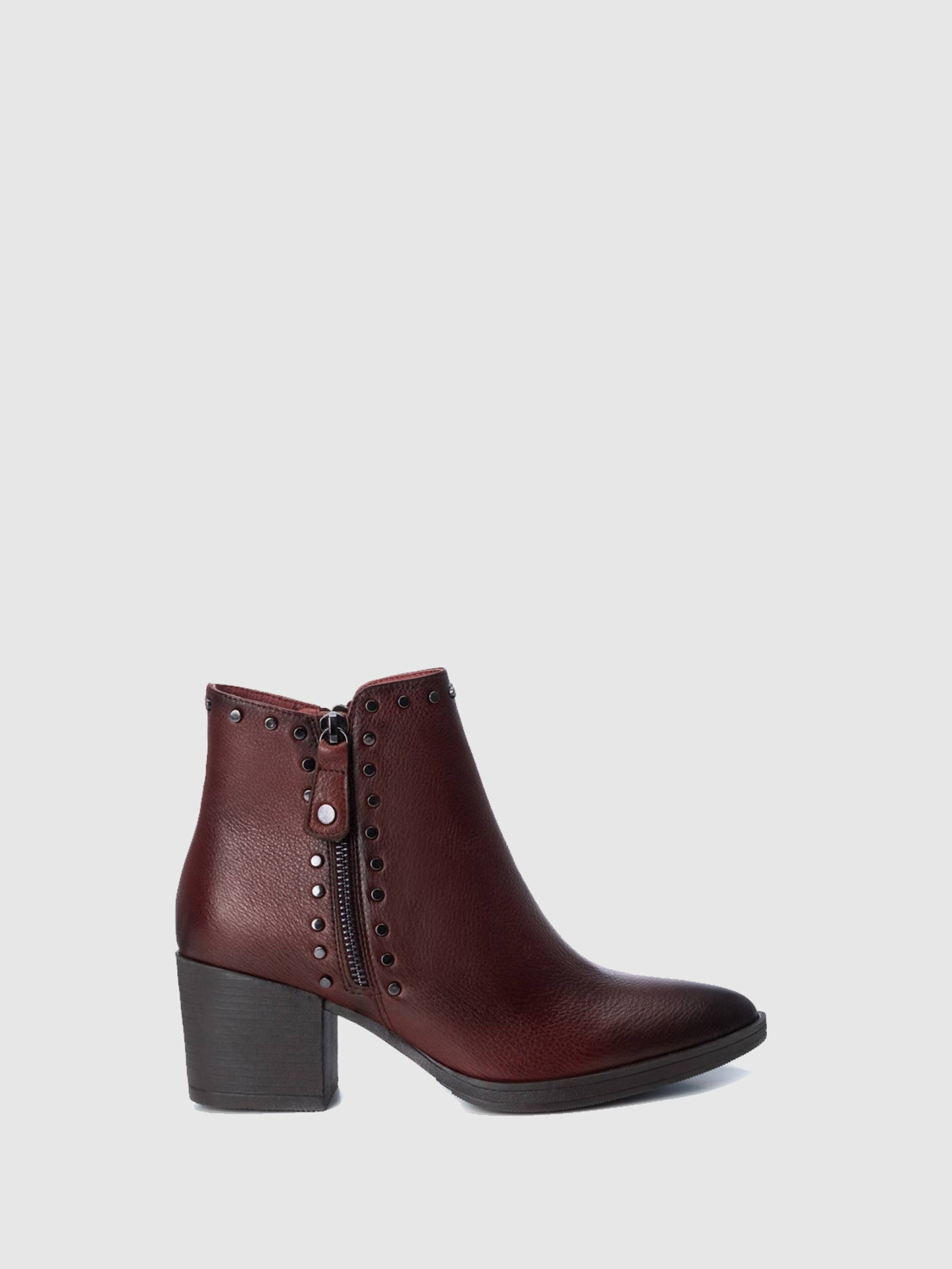 Carmela DarkRed Pointed Toe Ankle Boots