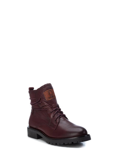 Carmela DarkRed Zip Up Ankle Boots