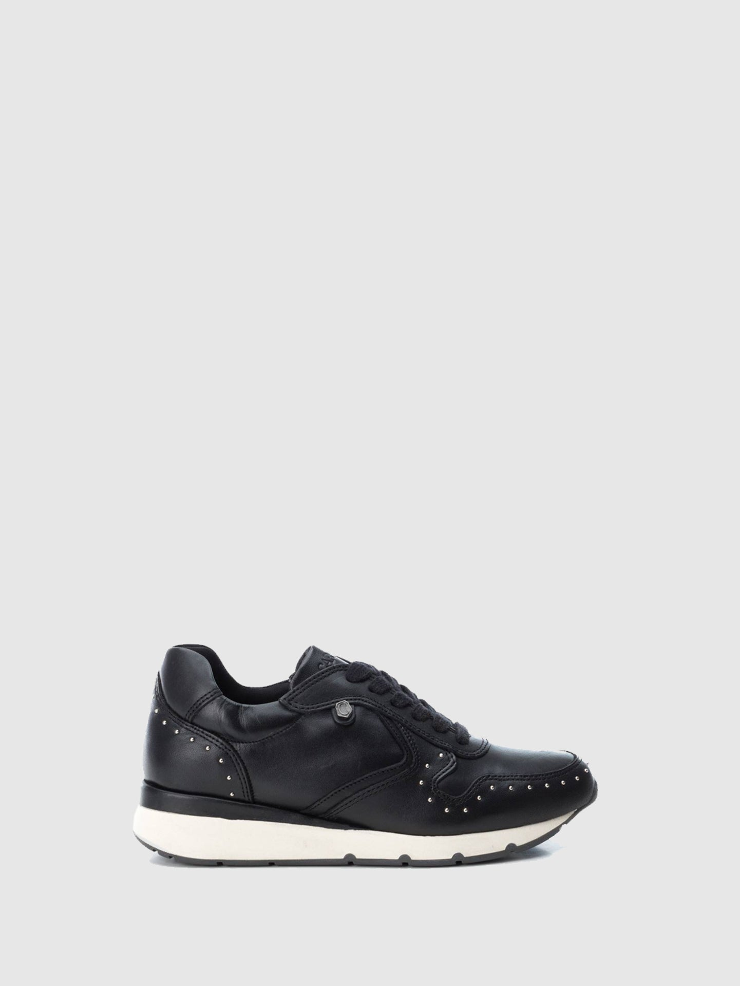 Carmela Black Lace-up Trainers