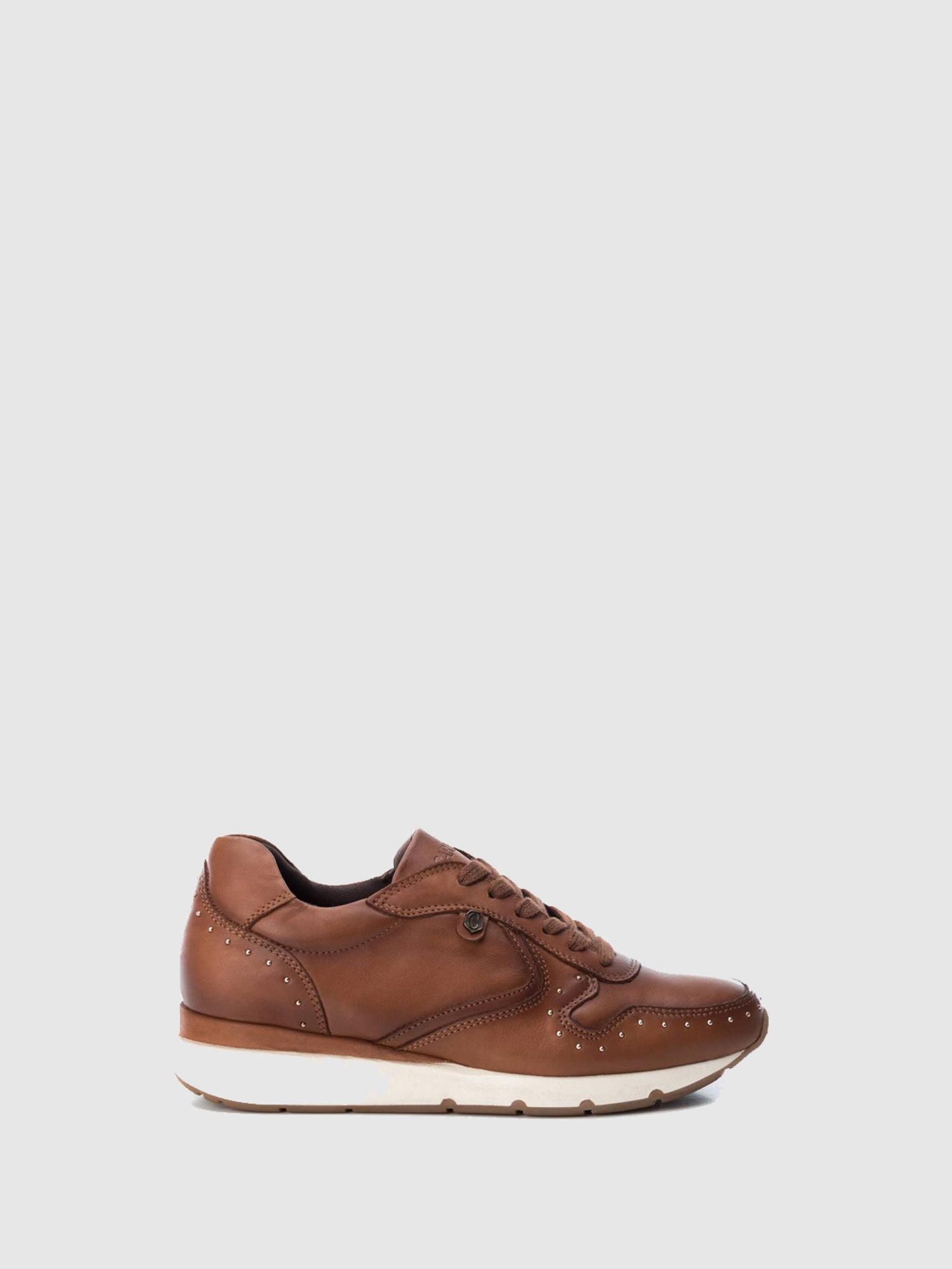 Carmela Camel Lace-up Trainers