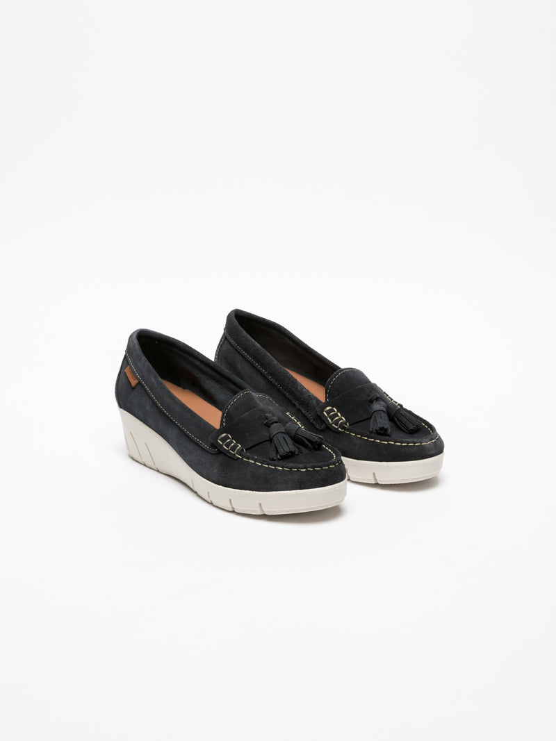 Carmela Navy Platform Shoes