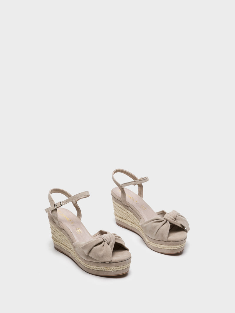 Tan Wedge Sandals