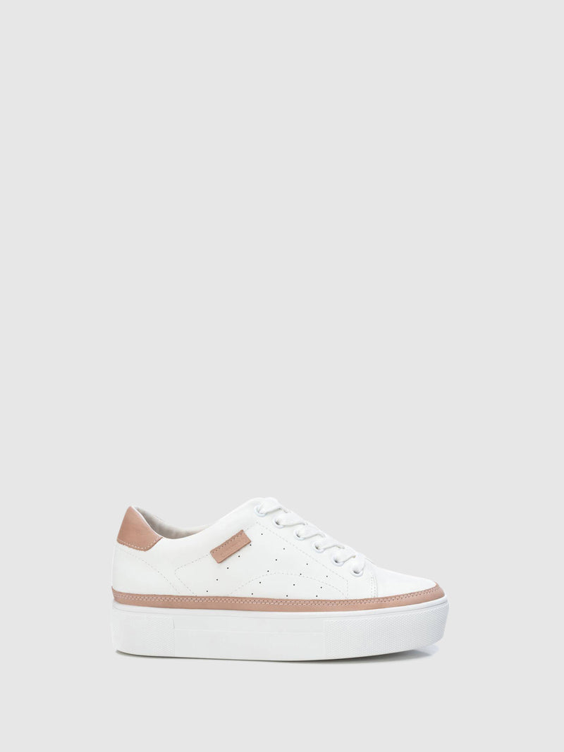 Carmela White Wedge Trainers