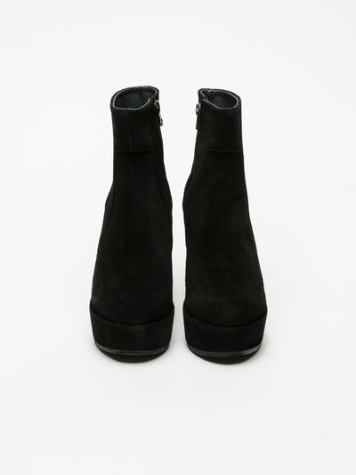 Clay's Black Wedge Ankle Boots