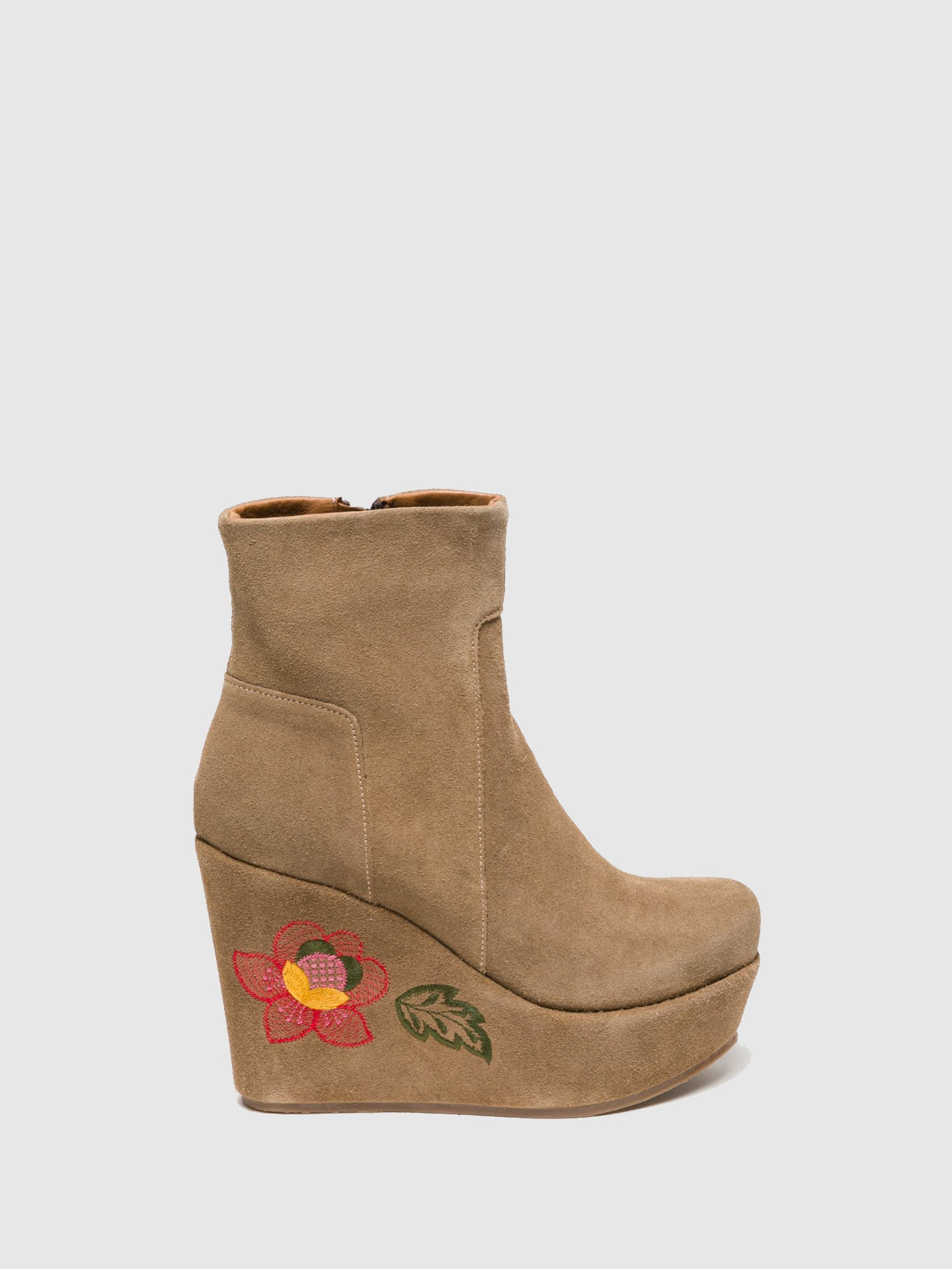 Clay's Tan Wedge Ankle Boots