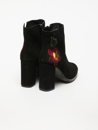 Clay's Black Zip Up Ankle Boots