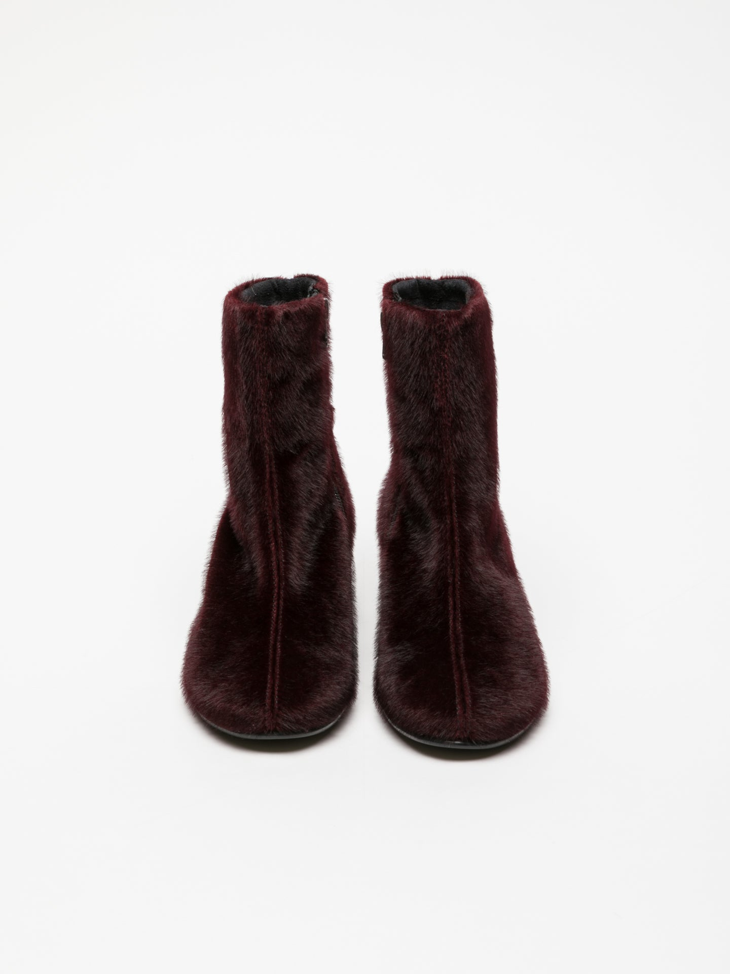 Clay's DarkRed Zip Up Ankle Boots