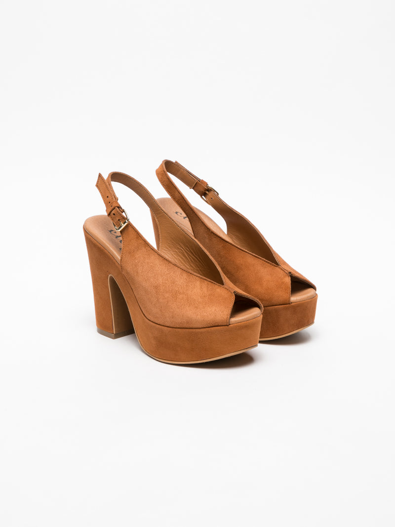 Clay's Brown Platform Sandals