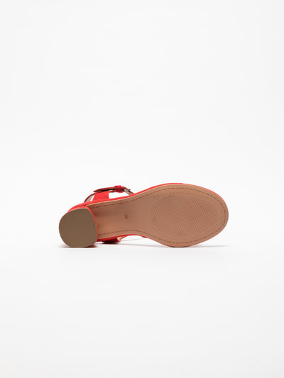 Clay's Red Ankle Strap Sandals