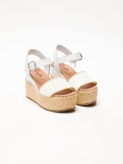 Clay's White Wedge Sandals