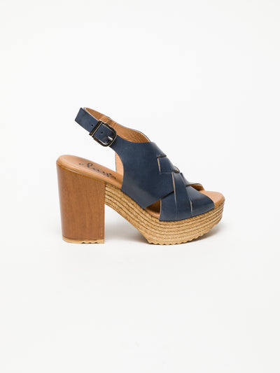 Clay's Blue Buckle Sandals