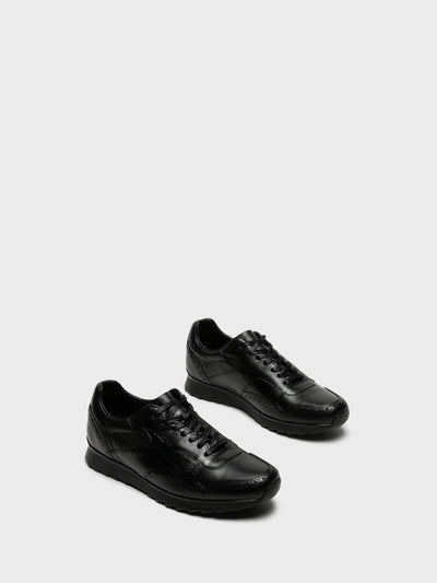 Camport Black Lace-up Trainers