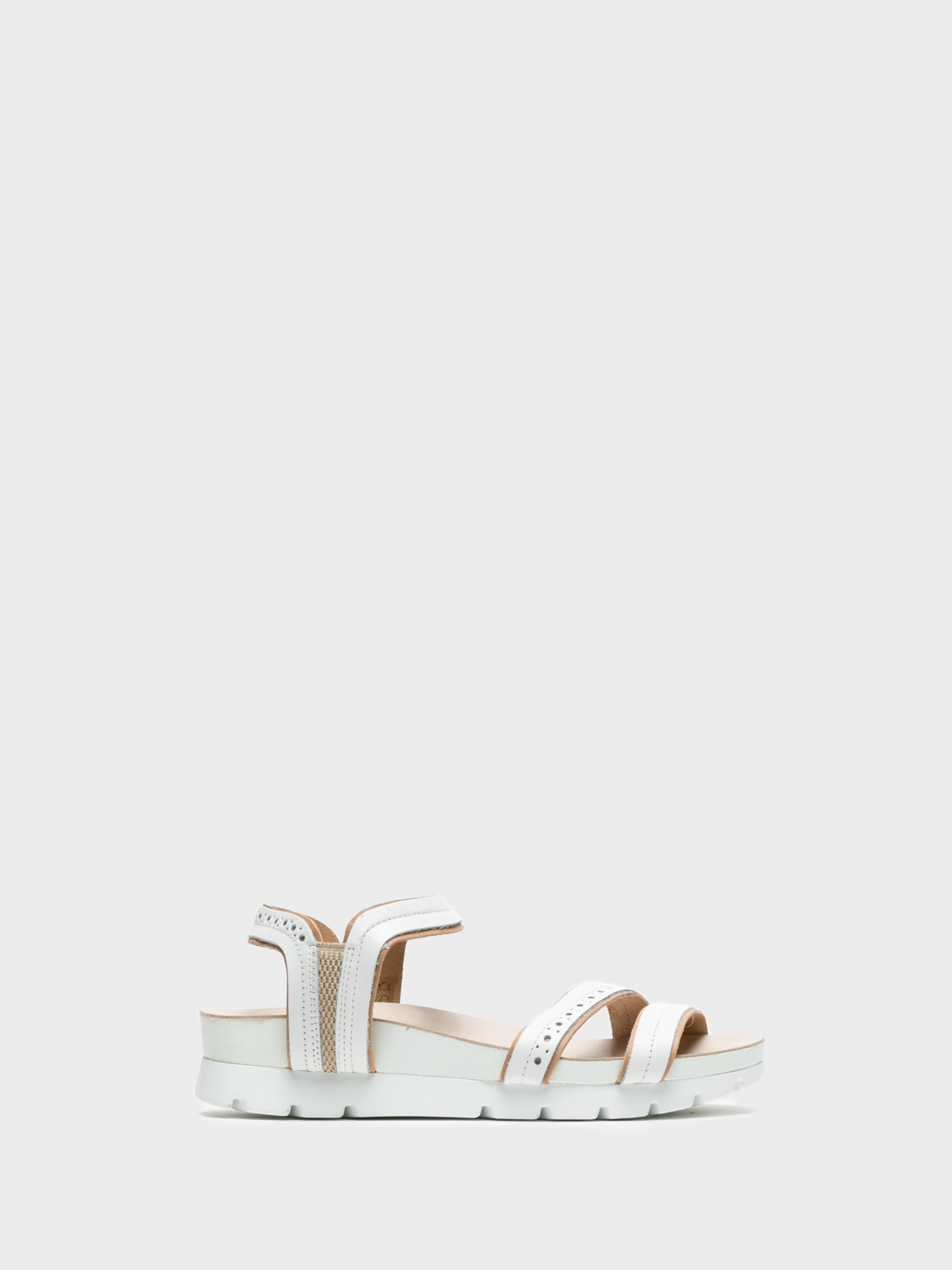 Camport Peru White Sling-Back Sandals
