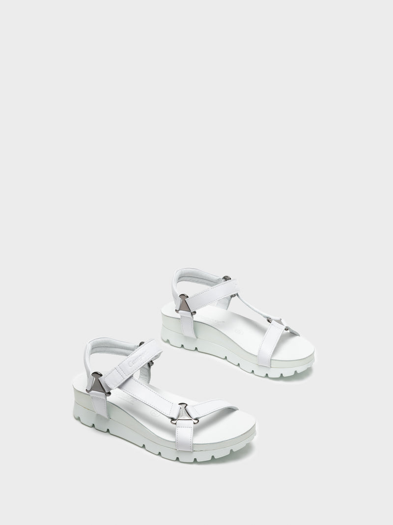 Camport White Velcro Sandals