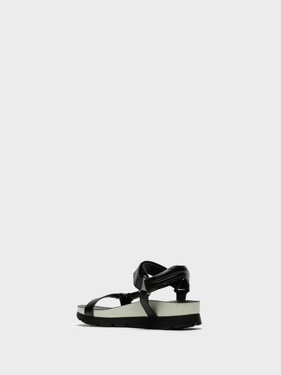 Camport Black Velcro Sandals