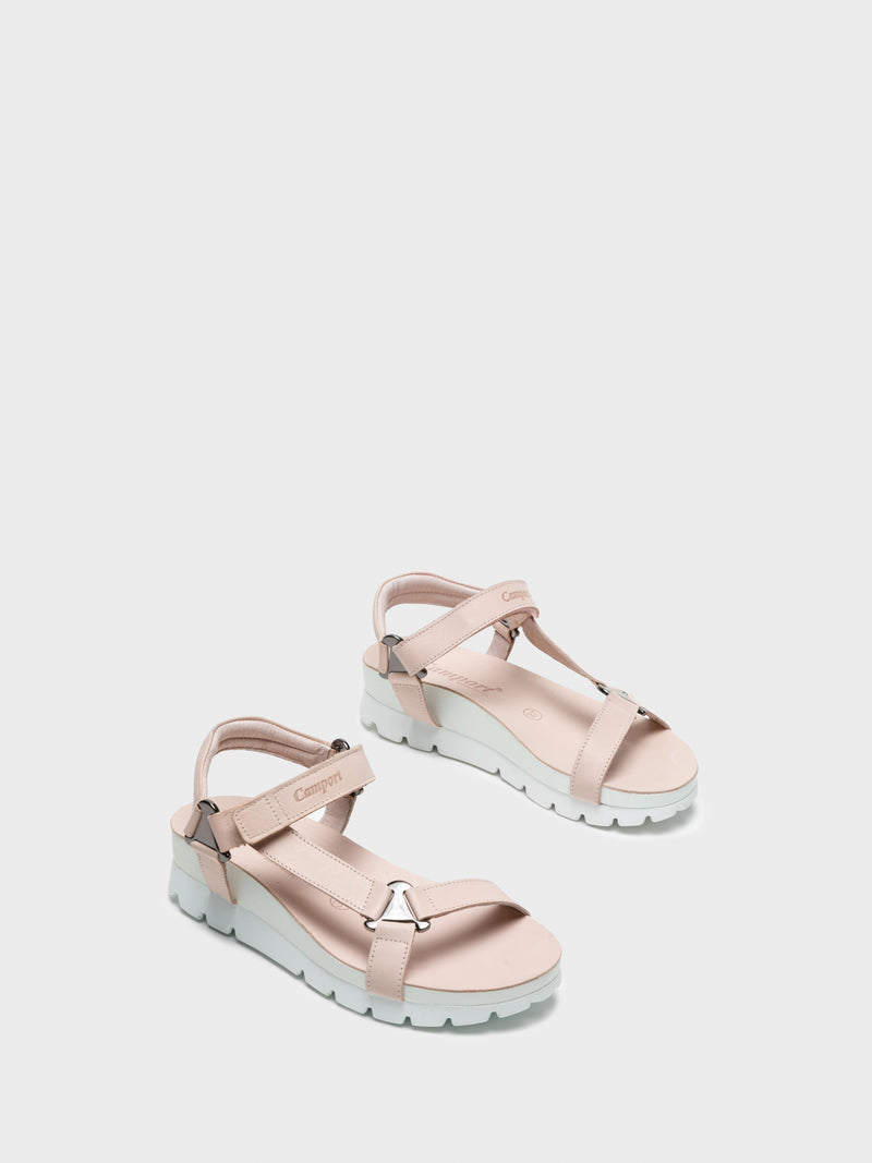 LightPink Velcro Sandals