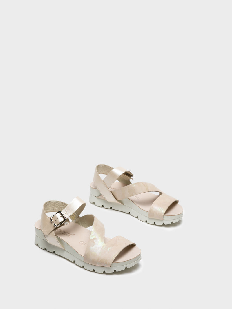 Camport Beige Buckle Sandals