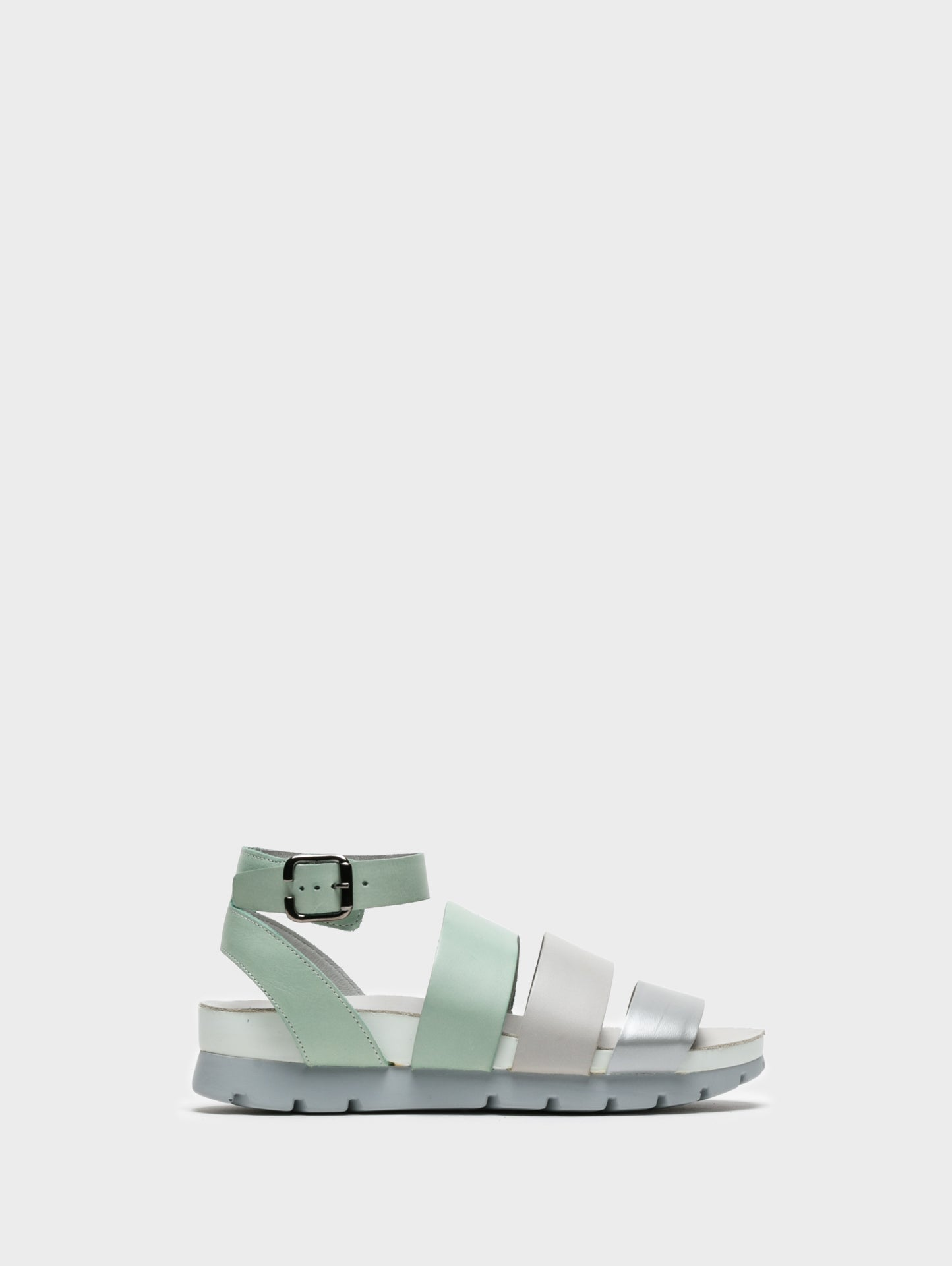 Camport Aquamarine Ankle Strap Sandals