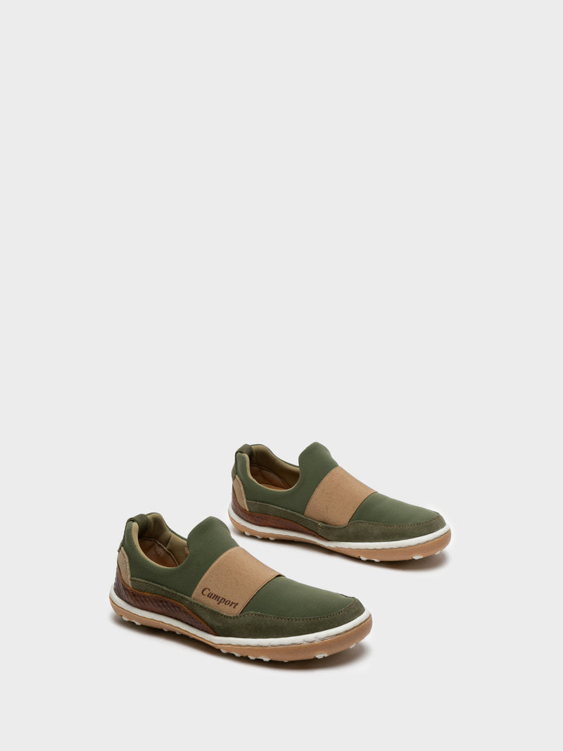 Khaki Slip-on Trainers
