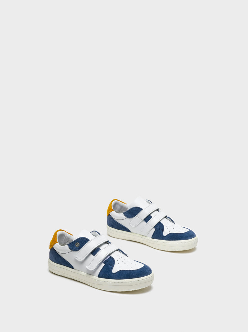 Blue White Velcro Trainers