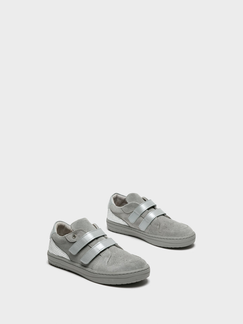 Silver Velcro Trainers