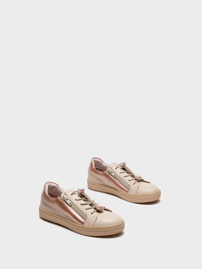 RoseGold Lace-up Trainers