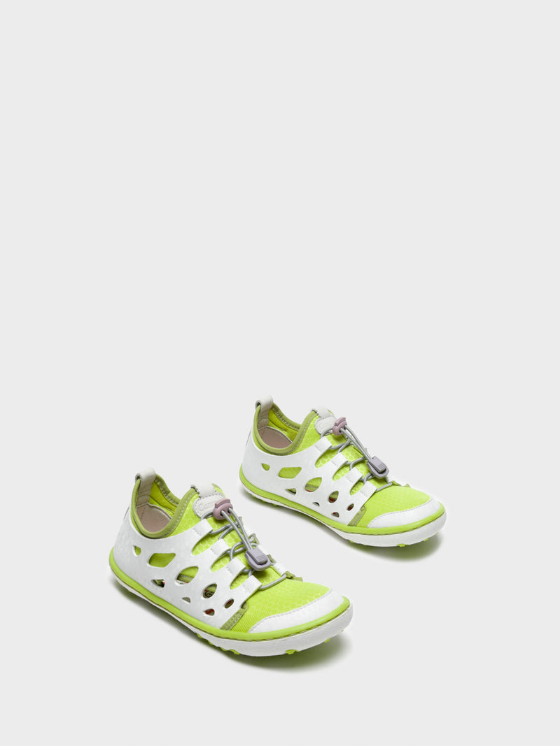 Lime Lace-up Trainers