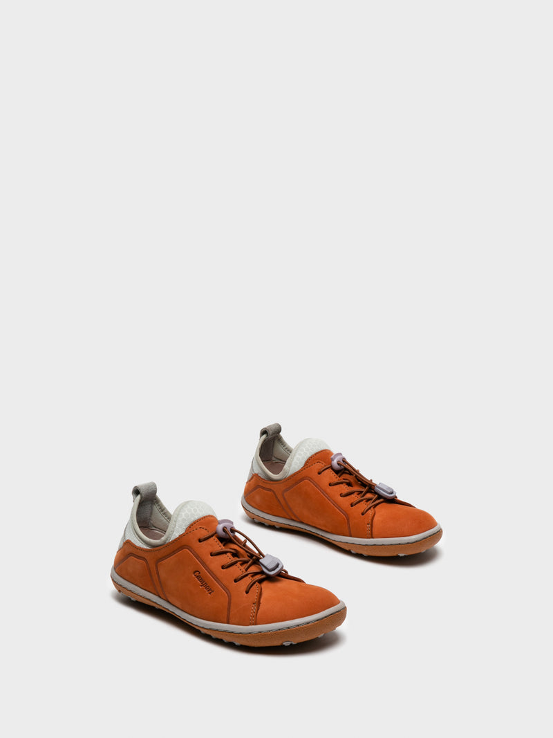 DarkOrange Lace-up Trainers