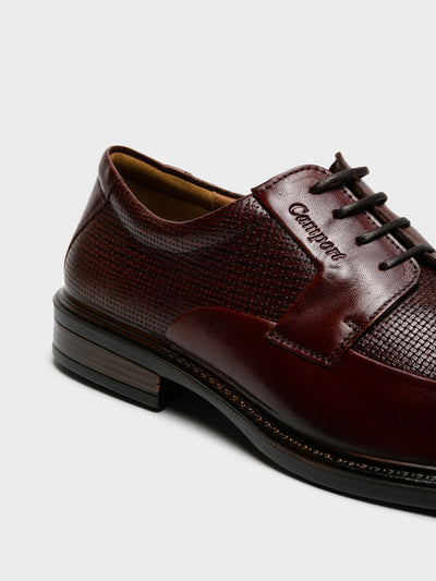 Camport Maroon Lace-up Shoes