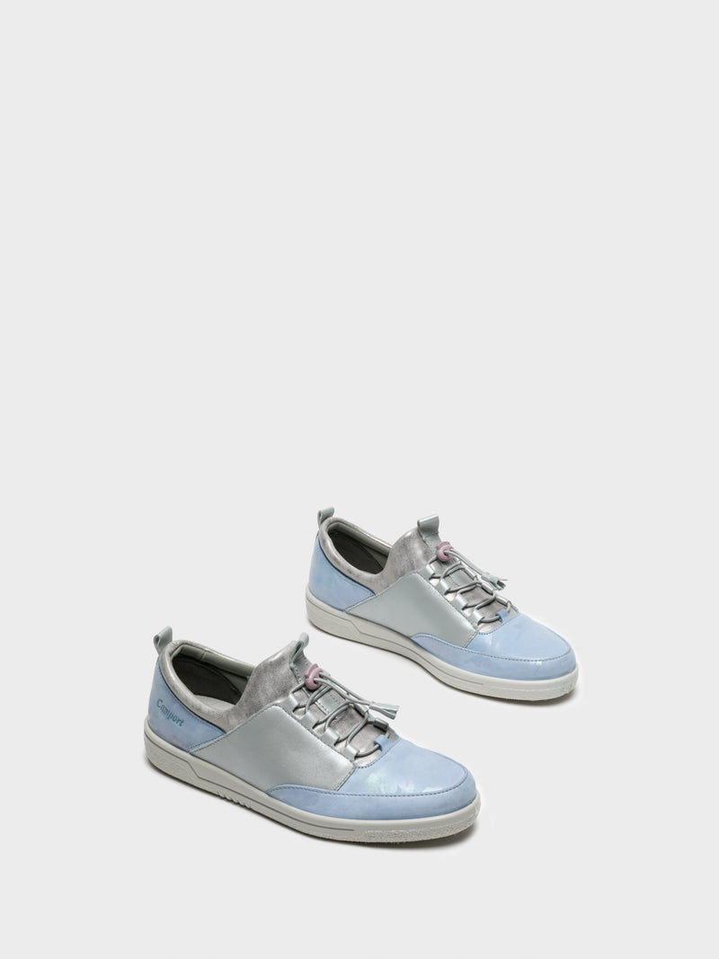 LightBlue Lace-up Trainers