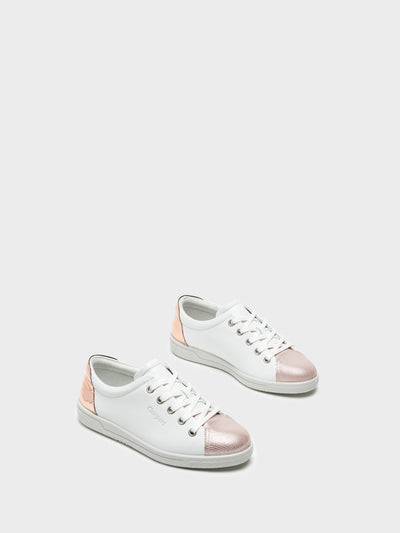 Camport Pink White Lace-up Trainers